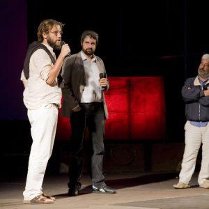 Andrea Segre, Boris Sollazzo, Gianfranco Cabiddu - La valigia dell'attore 2012 - Foto di Nanni Angeli