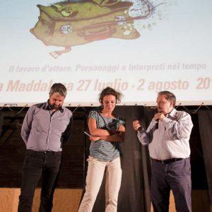 Boris Sollazzo, Jasmine Trinca, Enrico Magrelli -La valigia dell'attore 2015 - Foto di Nanni Angeli