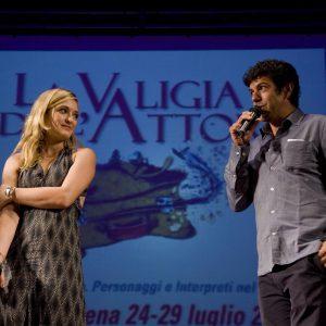 Carolina Crescentini, Pierfrancesco Favino - La valigia dell'attore 2012 - Foto di Nanni Angeli