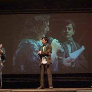 Rita Abela, Luigi Lo Cascio, Gianfranco Cabiddu - La valigia dell'attore 2011 - Foto di Gianni Fano