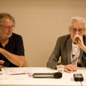 Felice Laudadio, Ettore Scola - La valigia dell'attore 2012 - Foto di Nanni Angeli