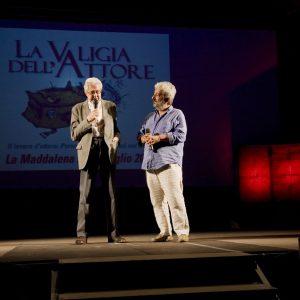 Ettore Scola, Gianfranco Cabiddu - La valigia dell'attore 2012 - Foto di Nanni Angeli