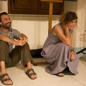 Fabrizio Gifuni, Giovanna Gravina - La valigia dell'attore 2012 - Foto di Nanni Angeli