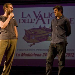 Fabrizio Gifuni, Pierfrancesco Favino - La valigia dell'attore 2012 - Foto di Nanni Angeli