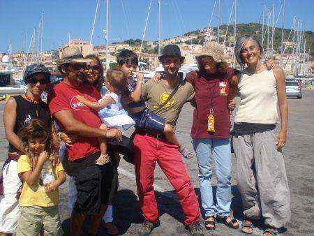Foto di gruppo a Cala Gavetta - Ascanio Celestini - La valigia dell'attore 2011
