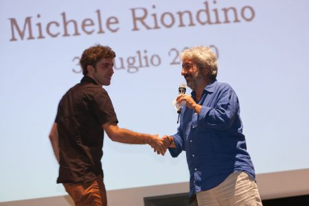 Michele Riondino, Gianfranco Cabiddu - La valigia dell'attore 2010 - Foto di Eugenio Schirru