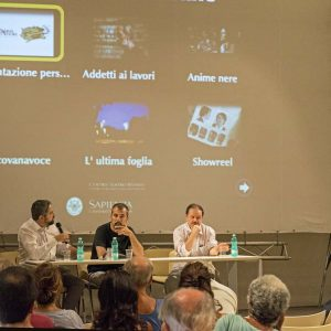 Francesco Munzi, Boris Sollazzo, Enrico Magrelli - La Valigia dell'attore 2015 - Foto di Fabio Presutti