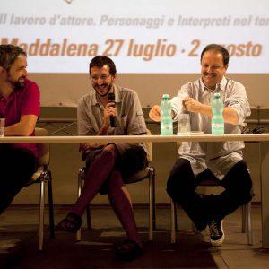 Gian Luigi Pucciarelli , Boris Sollazzo, Enrico Magrelli - La Valigia dell'attore 2015 - Foto di Fabio Presutti