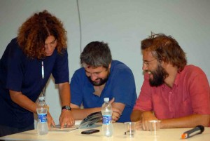 Giovanna Gravina, Boris Sollazzo, Andrea Segre - La valigia dell'attore 2012 - Foto di Fabio Presutti