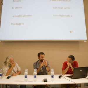 Ferruccio Marotti, Fabrizio Gifuni, Fabrizio Deriu - La valigia dell'attore 2012 - Foto Nanni Angeli