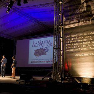 Fabrizio Gifuni , Pierfrancesco Favino, Fabrizio Deriu - La valigia dell'attore 2012 - Foto di Nanni Angeli 2