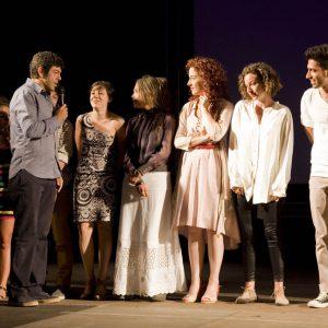 Pierfrancesco Favino con gli allievi del ValigiaLab - La valigia dell'attore 2012 - Foto di Nanni Angeli 2