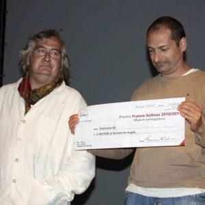 Premiazione Solinas a La Maddalena - Umberto Contarello, Massimo De Angelis - La valigia dell'attore 2011 - Foto di Eugenio Mangia