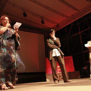 Rita Abela, Luigi Lo Cascio, Gianfranco Cabiddu - La valigia dell'attore 2011 - Foto di Eugenio Mangia