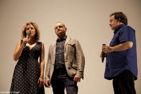 Valeria Golino, Marco Puccioni, Enrico Magrelli - La valigia dell'attore 2014 - Foto di Nanni Angeli