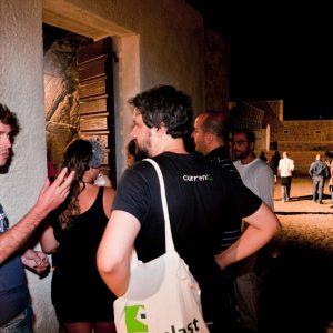 Punto ristoro - Fortezza I Colmi - M. Riondino, B. Sollazzo - La valigia dell'attore 2010 - Foto di Eugenio Schirru