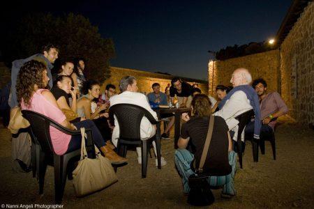 Giuliano Montaldo e gli allievi del ValigiaLab 2013 - Foto di Nanni Angeli