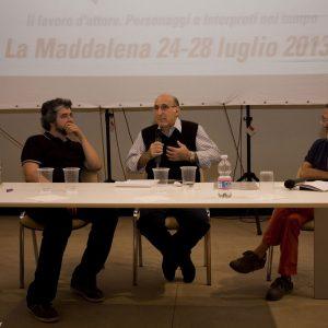 Boris Sollazzo, Jacopo Onnis, Fabrizio Deriu - La valigia dell'attore 2013 - Foto di Nanni Angeli