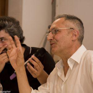 Boris Sollazzo, Giovanni Columbu - La valigia dell'attore 2013 - Foto di Nanni Angeli