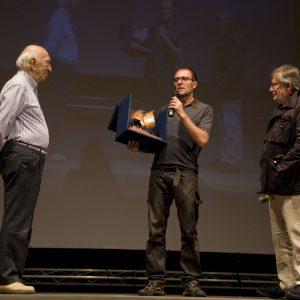 Premio Volonté - Giuliano Montaldo, Valerio Mastandrea, Felice Laudadio - La valigia dell'attore 2013 - Foto di Nanni Angeli 2