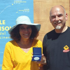 Medaglia Presidente Repubblica - G. Gravina, F. Canu - La valigia dell'attore 2008 - Foto di Fabio Presutti