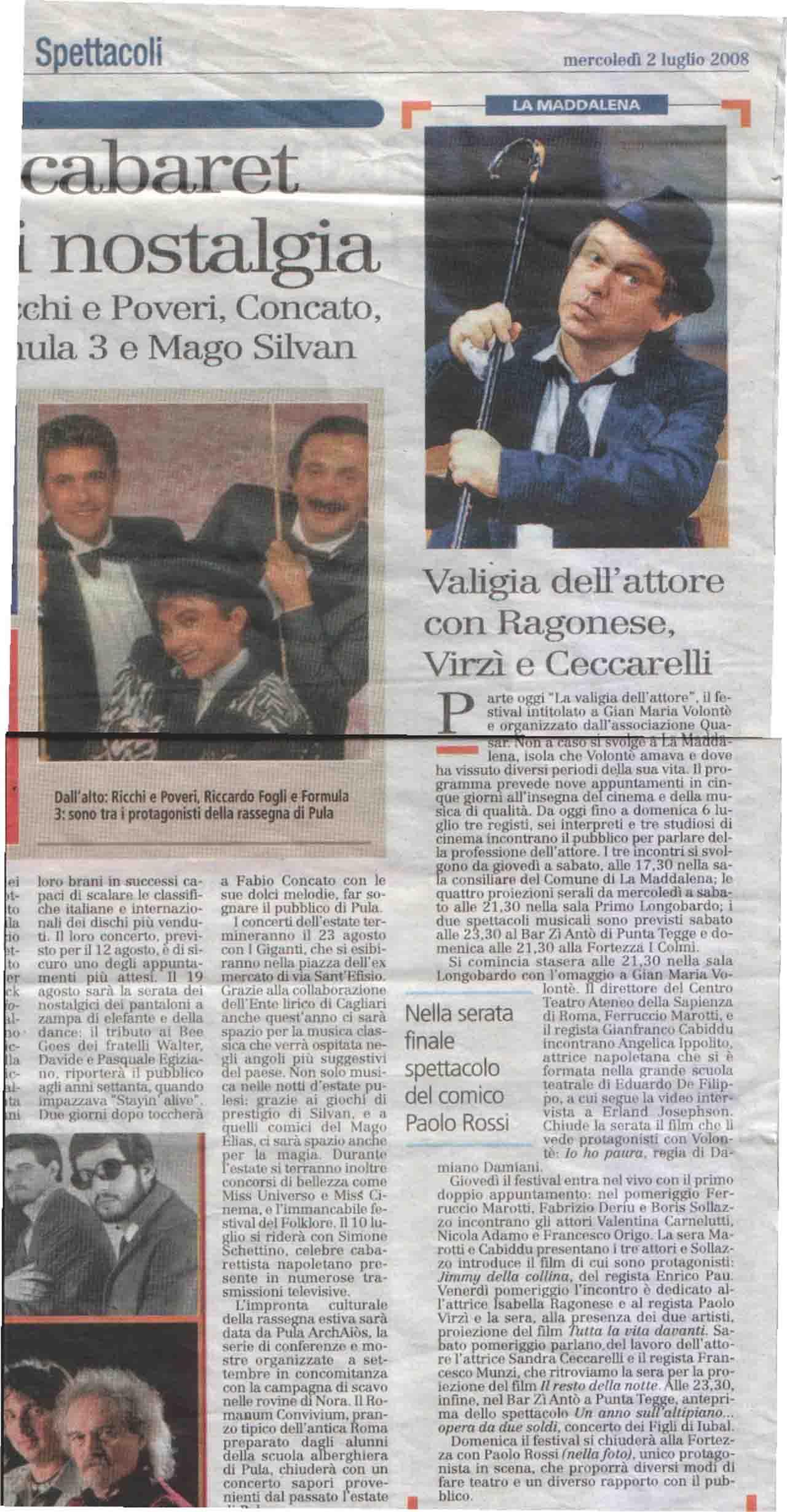 02-07-08 L'Unione sarda Estate Spettacoli - Copia