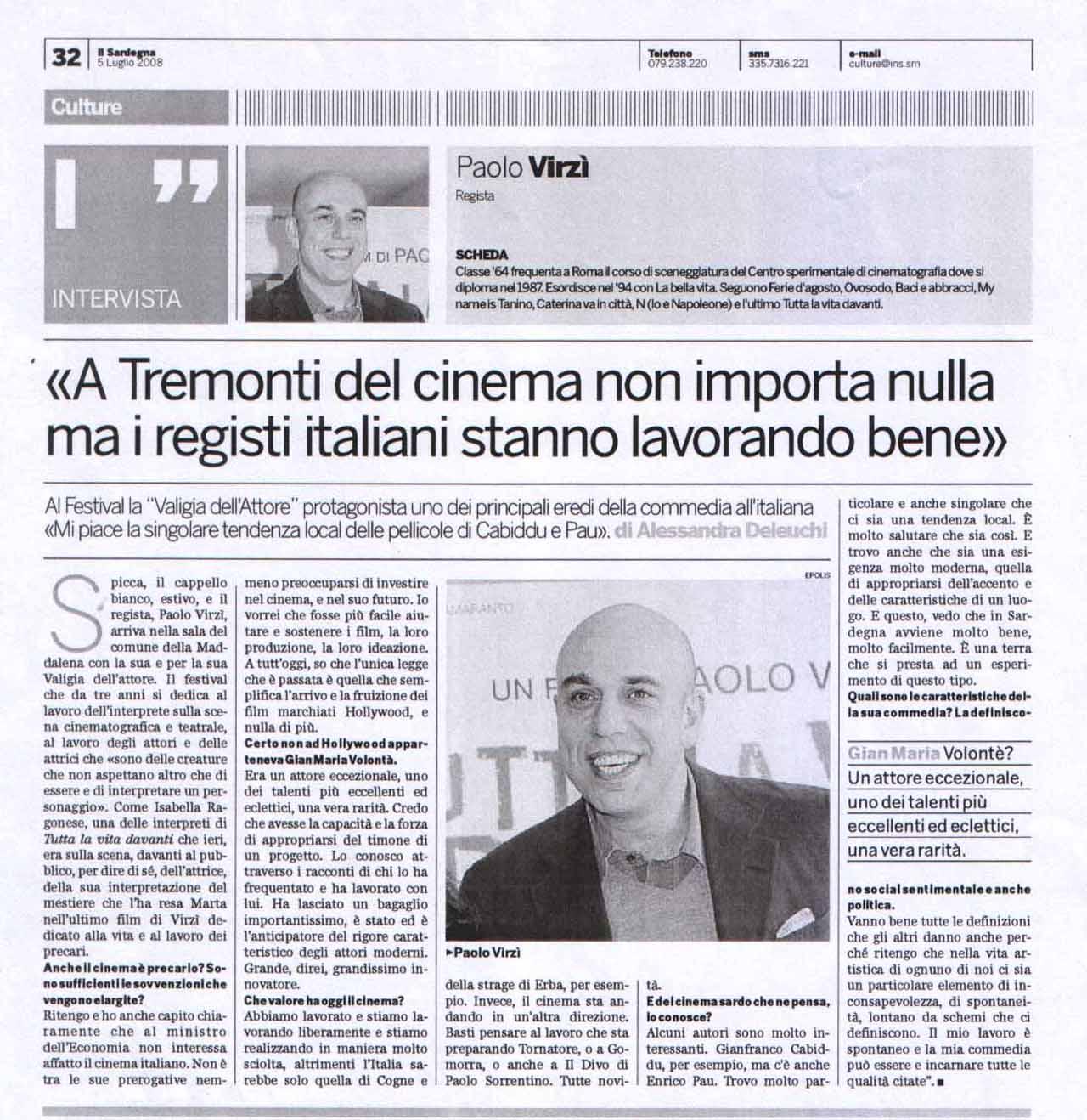 05-07-08 Il Sardegna Culture Intervista - Copia