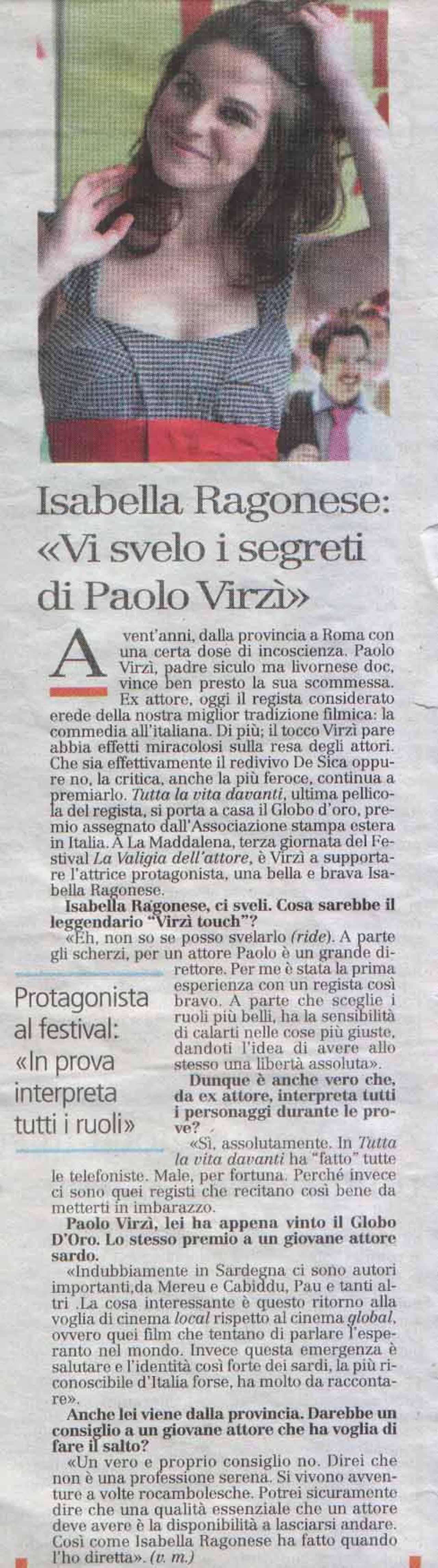 05-07-08 L'Unione Sarda Spettacoli