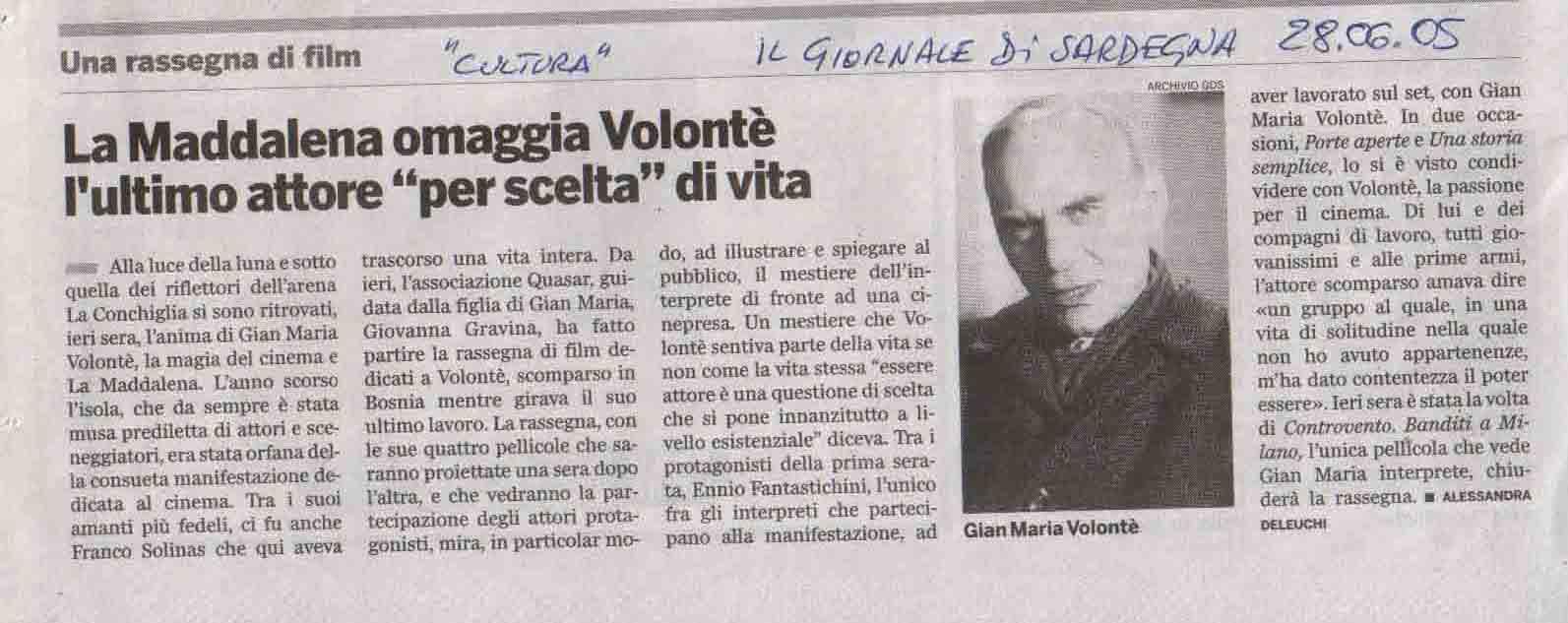 Il Giornale di Sardegna 28 giu 2005