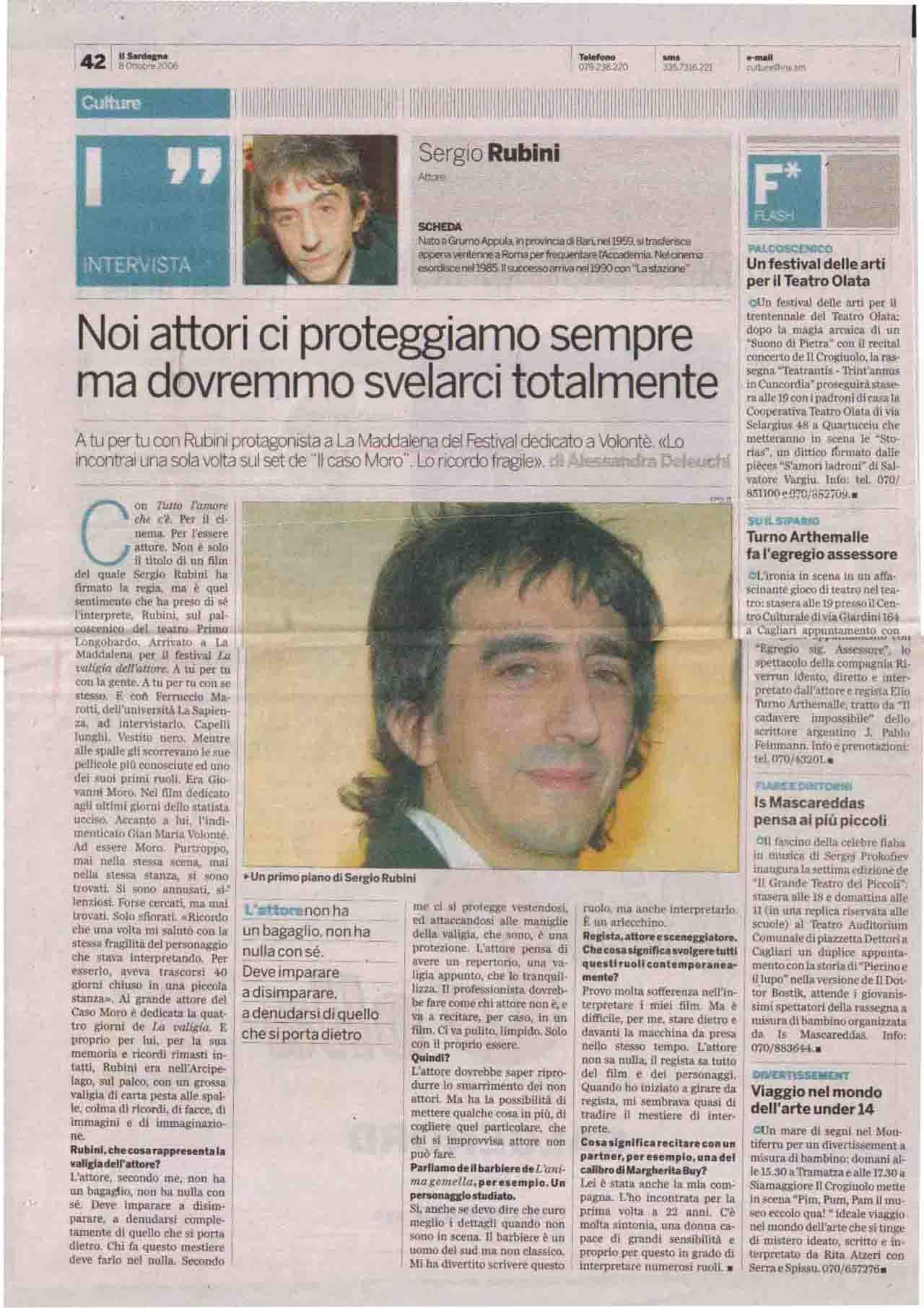 Il Sardegna (Culture) 8 ott 2006