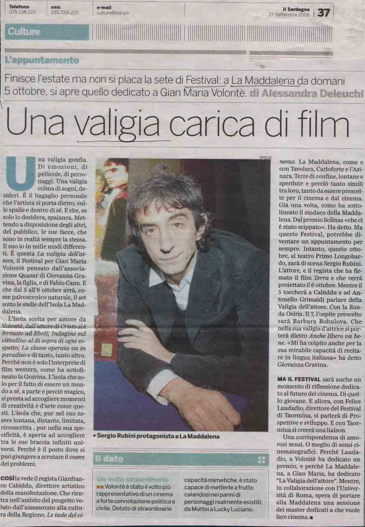Il Sardegna (culture) 27 sett 2006