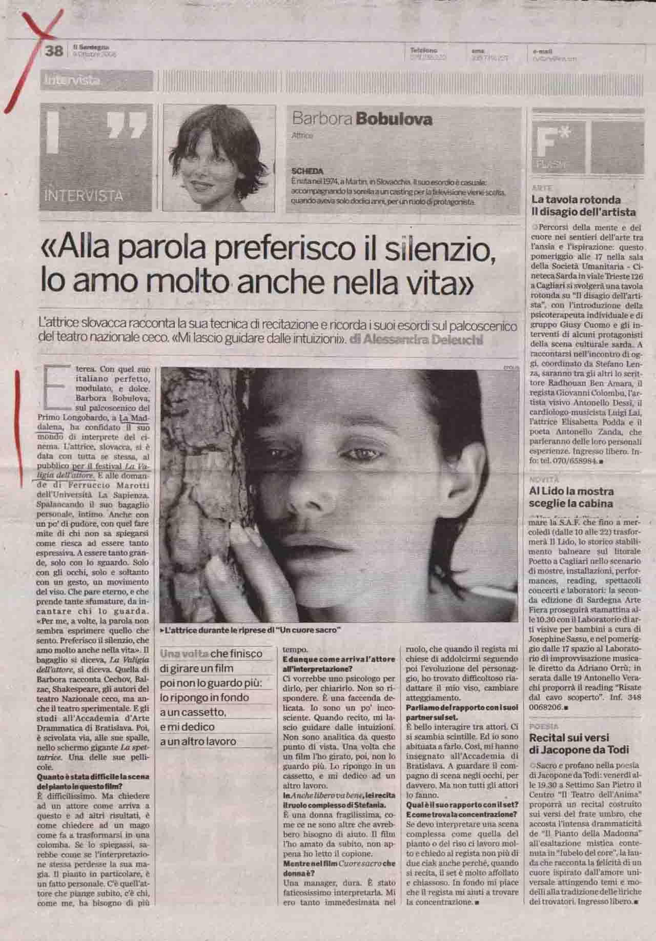 Il Sardegna (culture) 9 ott 2006
