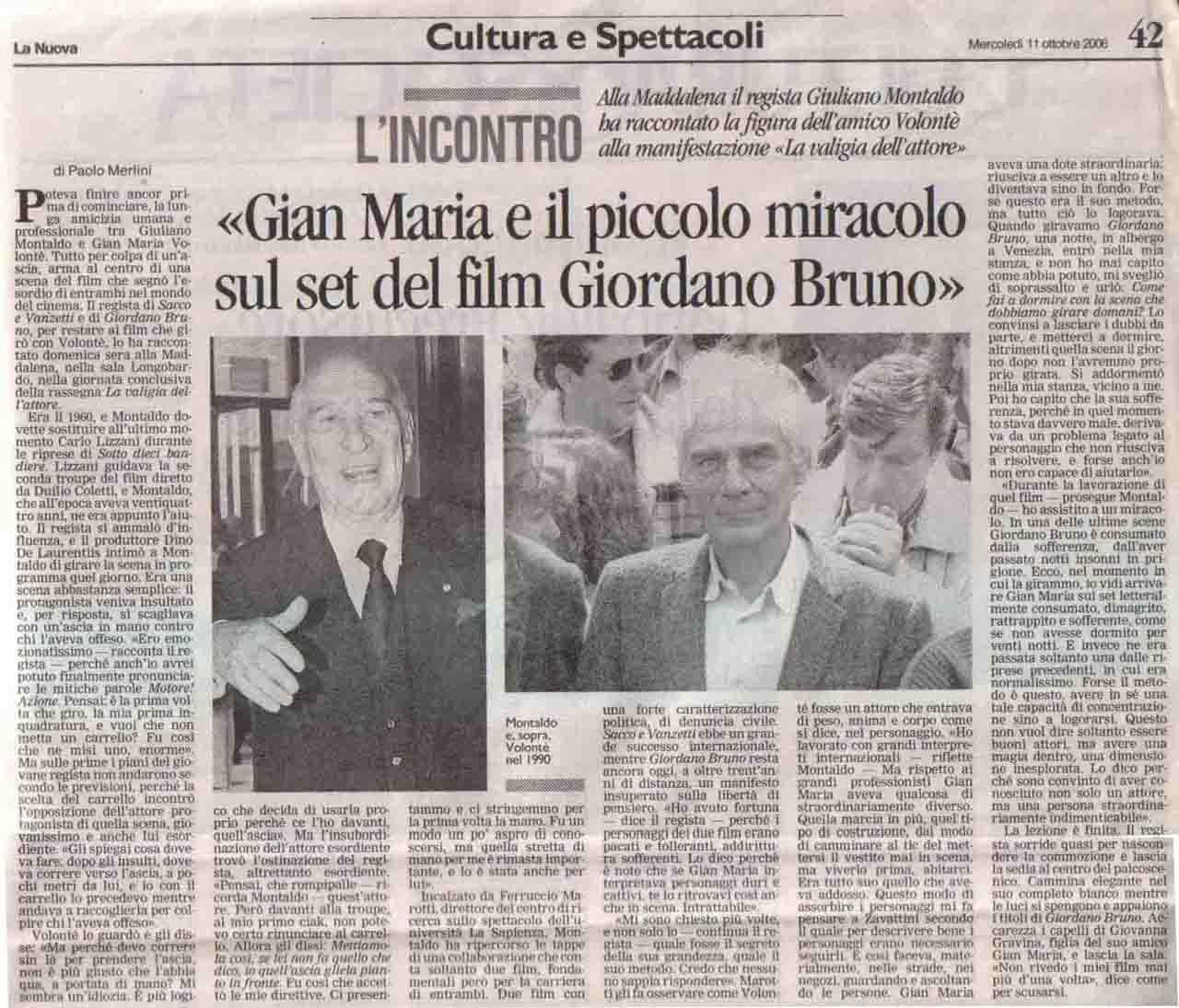 La Nuova (cultura) 11 ott 2006