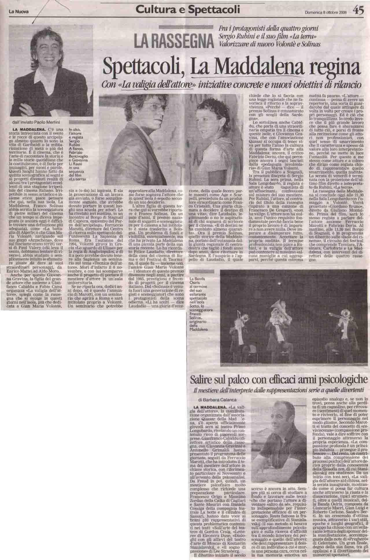 La Nuova (cultura) 8 ott 2006