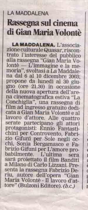 La nuova (Gallura) 25 giu 2005