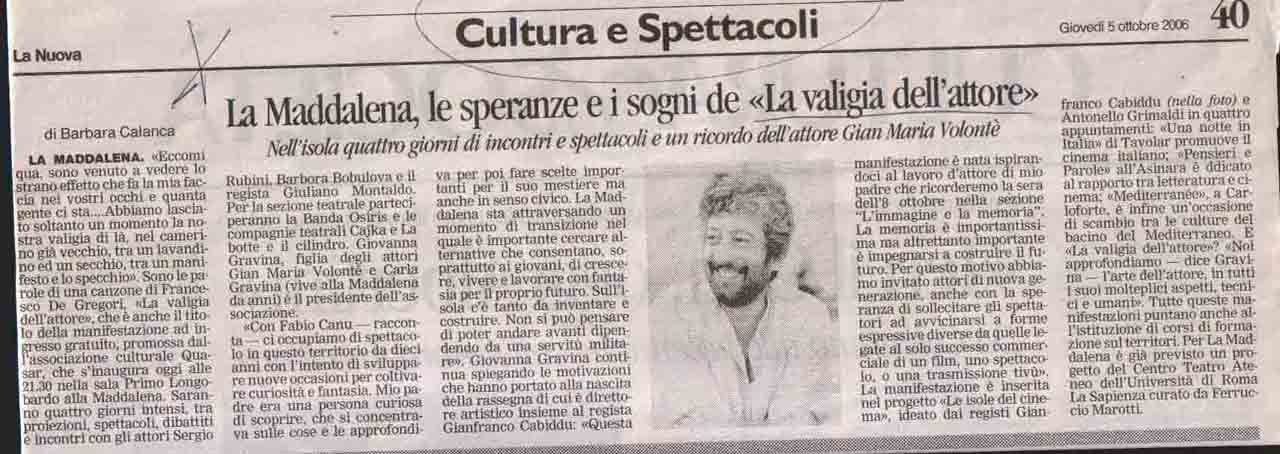 La nuova (cultura) 5 ott 2006