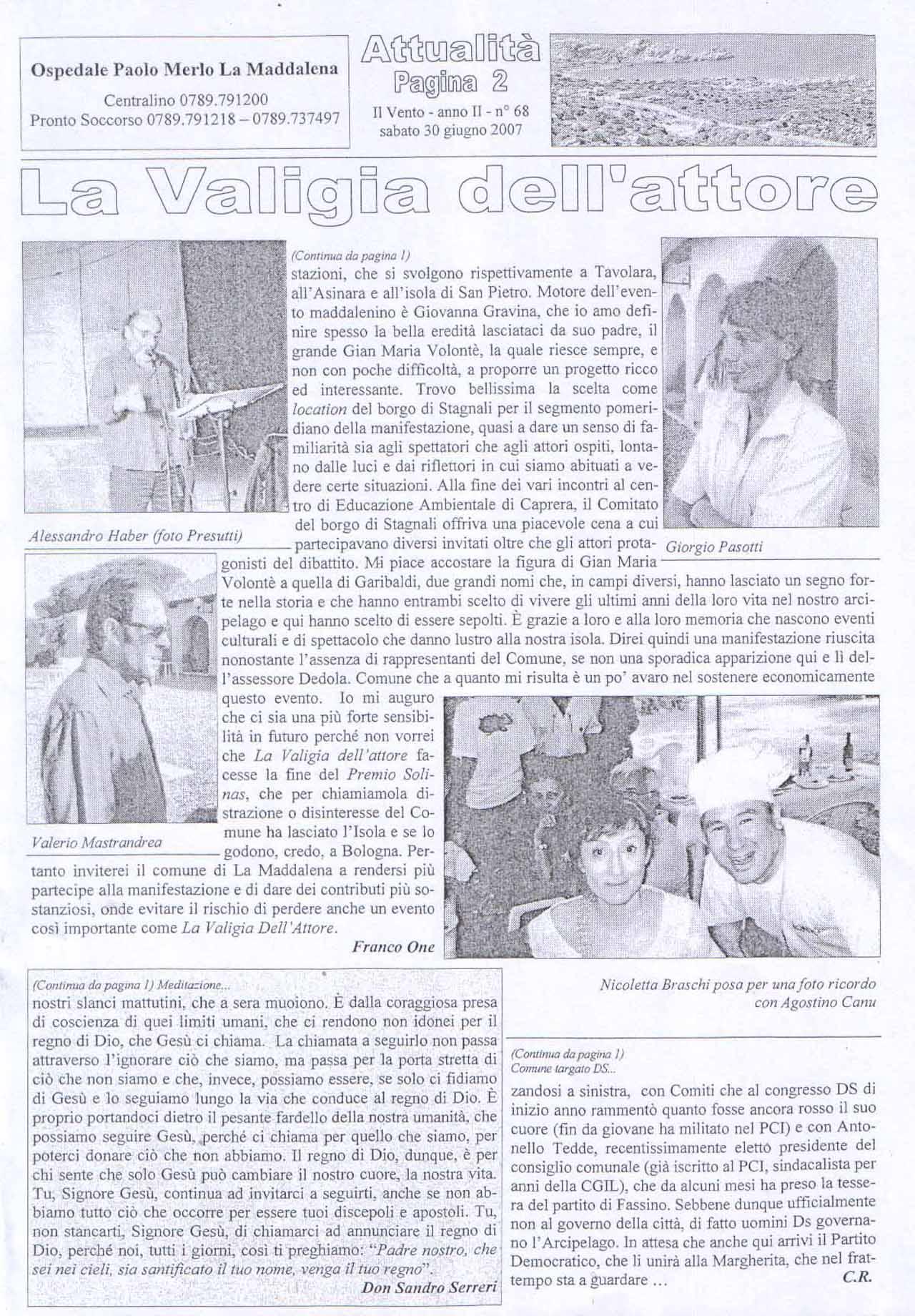 il vento (seconda pagina) 30 giugno 07