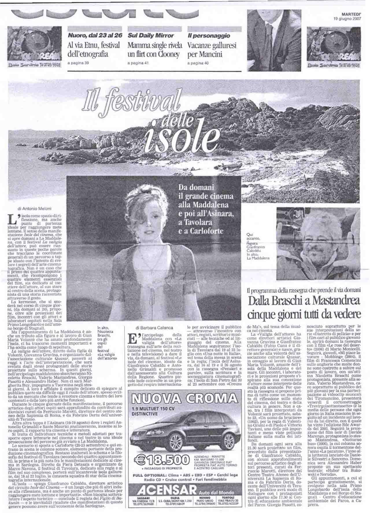 la nuova (estate prima pagina) 19 giugno 07