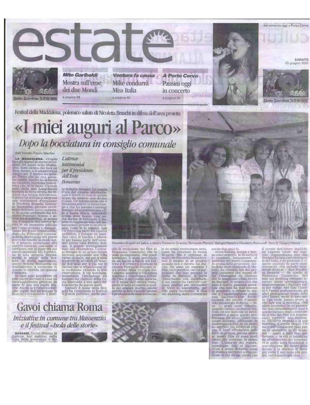 la nuova (estate prima pagina) 23 giugno 07