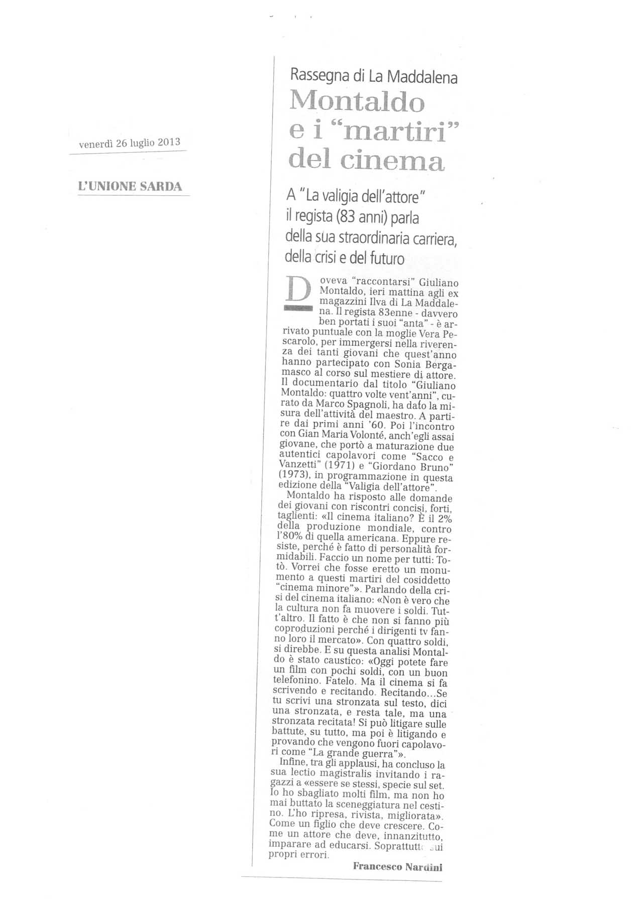 012 L'Unione Sarda 26.07.13