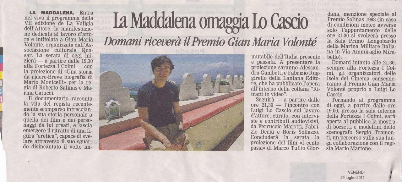 La Nuova Sardegna del 29.07.11