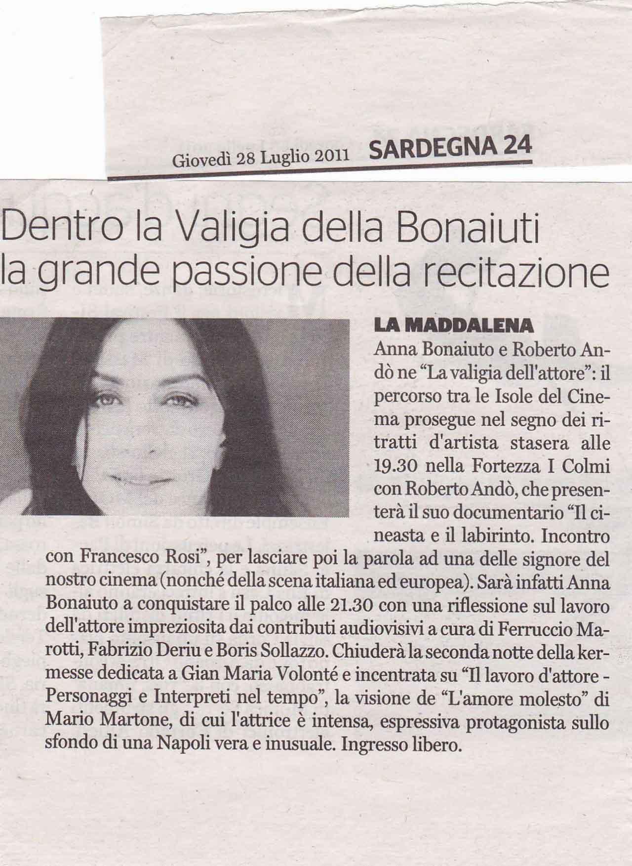 Sardegna24 del 28.07.11