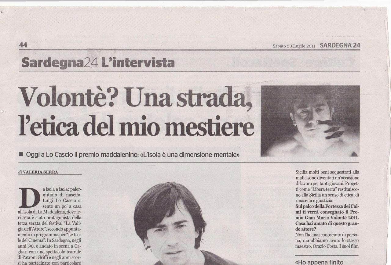 Sardegna24 del 30.07.11 intervista