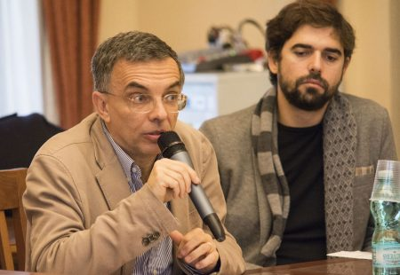 10 Dicembre 2016 - La valigia dell'attore - Secondo Atto - Incontro con le scuole - Fabrizio Deriu - Francesco Piras