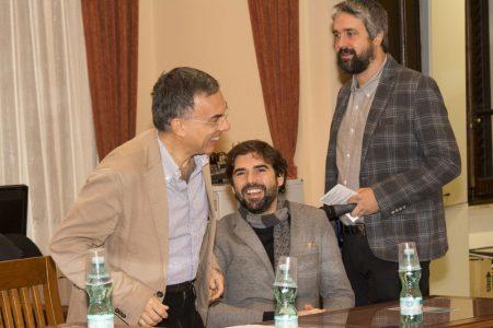 10 Dicembre 2016 - La valigia dell'attore - Secondo Atto - Incontro con le scuole - Fabrizio Deriu - Francesco Piras - Boris Sollazzo