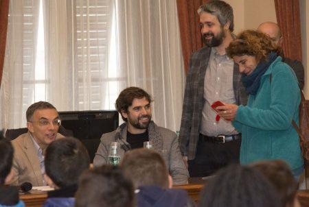 10 Dicembre 2016 - La valigia dell'attore - Secondo Atto - Incontro con le scuole - Fabrizio Deriu - Francesco Piras - Boris Sollazzo - Giovanna Gravina