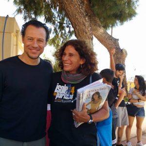 30 luglio 2016 - Ex magazzini Ilva - Cala Gavetta - La Valigia dell'Attore 2016 - Stefano Accorsi - Giovanna Gravina Volonté - foto di Silvia Muciaccia