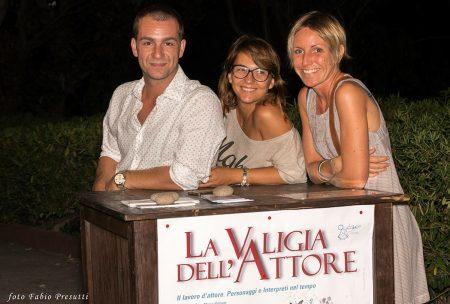 27 Luglio 2016 - Arena La Conchiglia - La Valigia dell'Attore 2016 - Staff - Michele - Carla - Francesca - foto Fabio Presutti