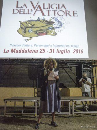 """25 Luglio 2016 - """"Ritratti"""" - I giornata - Arena La Conchiglia - La valigia dell'attore 2016 - Giovanna Gravina Volonté - Foto di Fabio Presutti"""