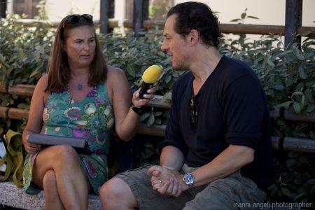 Barbara Sorrentini intervista Stefano Accorsi per Radio Popolare - 30 luglio 2016 - Ex Magazzini Ilva - Foto Nanni Angeli